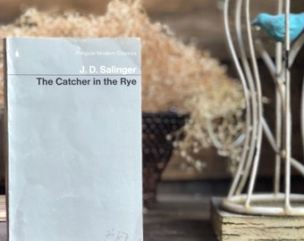 Vintage book Salinger J.D. The Catcher in the Rye, paperback, classic, literature, Penguin Publishing