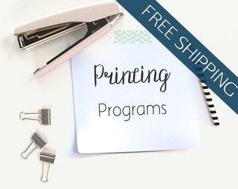 Printing Services // Wedding Programs