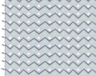 Chevron and Circles from 3 Wishes Fabric's FLANNEL Playful Cuties Collection