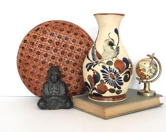 Mexican Pottery Bird Vase