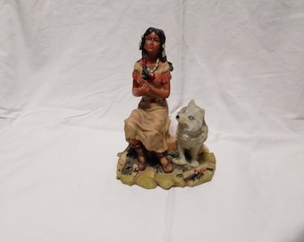 Indian Squaw Figurine/Resin