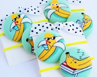 funny bananas hair elastics hair ties for little girls hair accessories