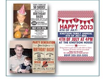 Custom Birthday Shower Party Event Invitation