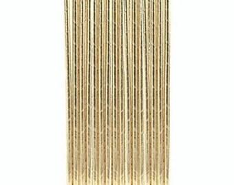 Set of 10 straws - gold paper straws birthday - wedding