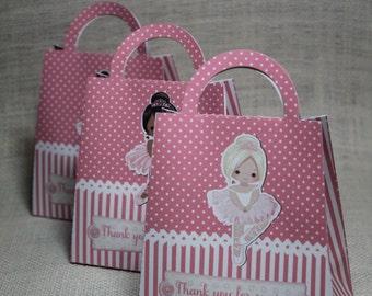 Ballerina favor bags, Ballerina party , Ballerina birthday, Set of 12