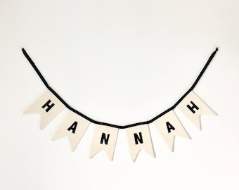 CUSTOM NAME Bunting, Personalized Bunting, Fabric Garland, High Chair Banner, Fabric Bunting, Nursery Garland, Name Garland, Gifting, Custom