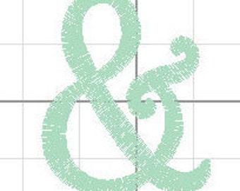 ampersand embroidery design ampersand filled embroidery design ampersand symbol embroidery design