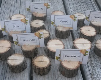 110 Rustic Place Card Holders