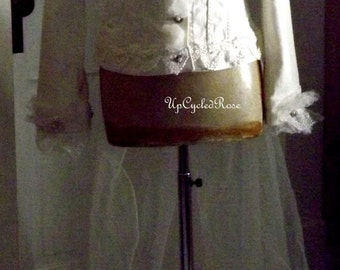 Whitney's Dream Came  True Cow Girl glam Up-Cycled Wedding Jacket Shabby Couture Boho Cow Girl Ready to Ship