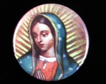 5 Our Lady of Guadalupe (Nuestra Virgin de Guadalupe) Pinback Buttons