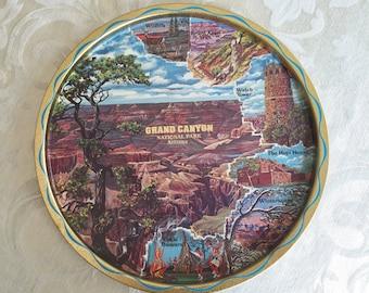 Vintage Grand Canyon National Park Arizona Souvenir Serving Tray Southwestern Kitchen Decor Retro Barware Entertaining Drink Tray