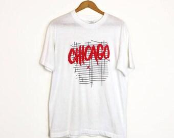 Vintage 80s Chicago Super Soft Thin T-shirt