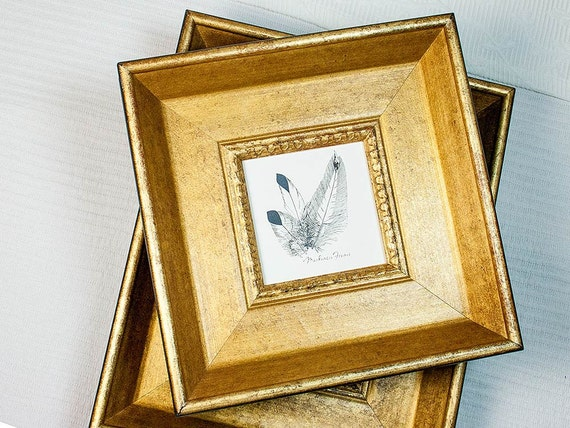 Small Square Deluxe Old Gold Frame - Photos or Miniatures Paintings ...