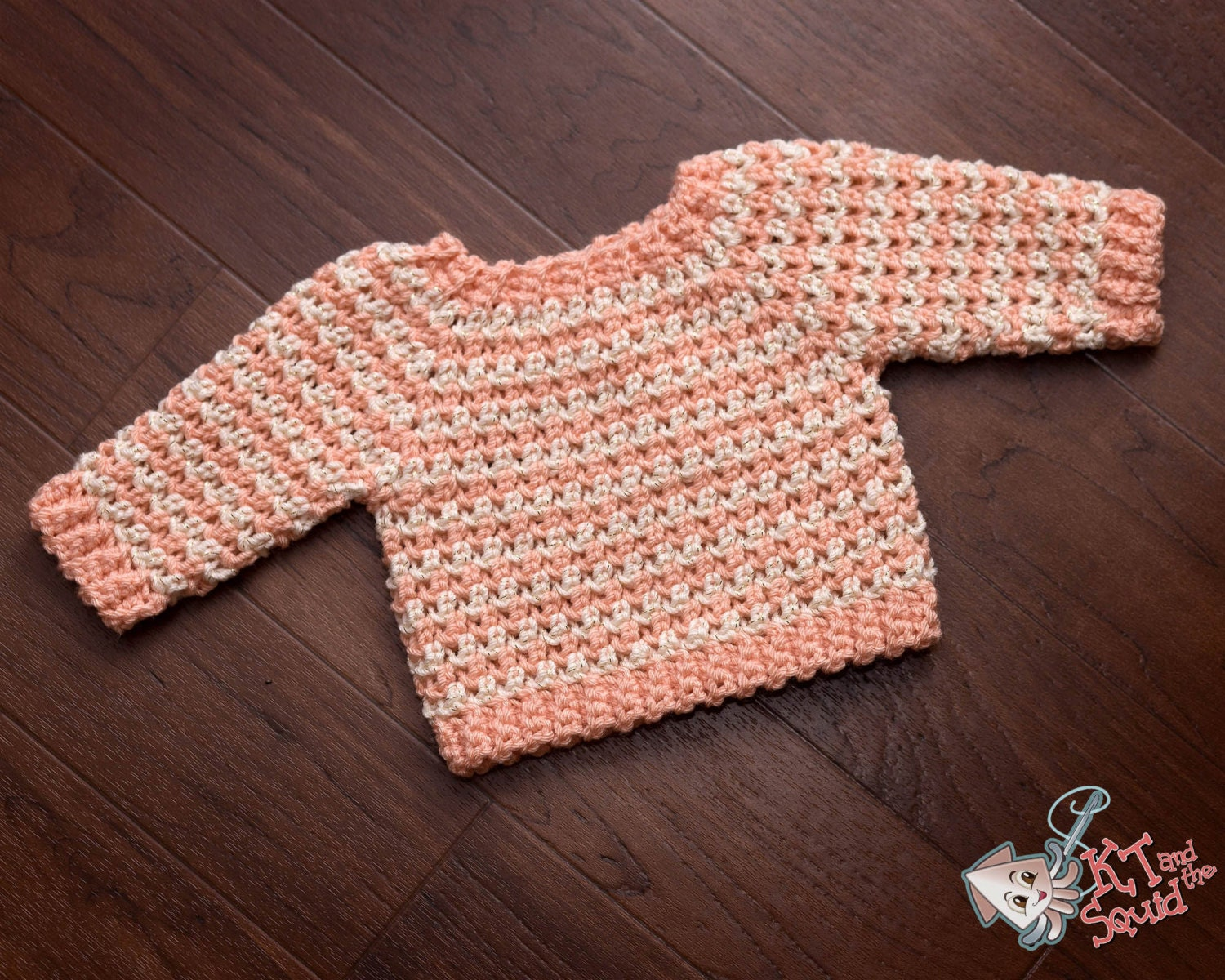 Infant crochet sweater pattrn Top down baby sweater long