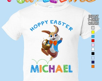 Hoppy Easter T-Shirt - Boys - infant - Personalized with Name