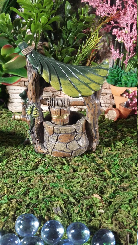Fairy Garden Miniature Well Resin Fairy Garden Water Well For