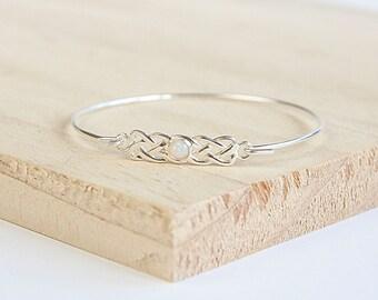 Astrid * Celtic Bracelet * Sterling Silver * Celtic Birthstone Bracelet * Celtic Bangle * Celtic Knot * Irish Bangle * Celtic Knot Jewelry