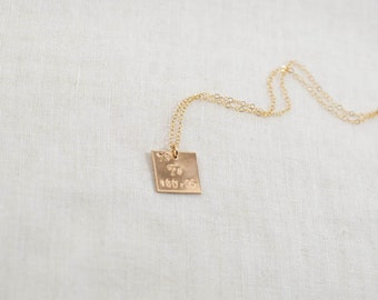 custom periodic table element necklace 14k gold filled initial atomic number - Au Symbol Periodic Table