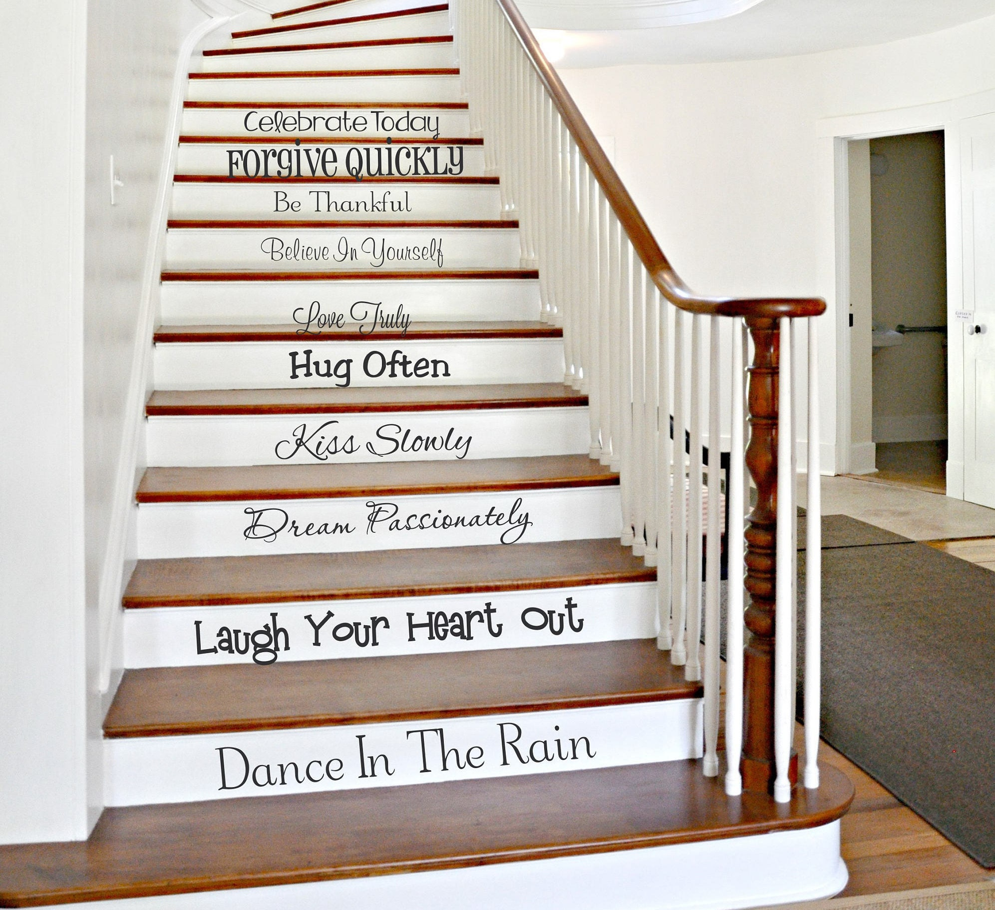 58 Cool Ideas For Decorating Stair Risers: Family Stair Decals We Do Stairway Decals Stair Riser