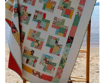 Quilt Pattern: Danish Delights Layer Cake Quilt Pattern 3 Sizes Quick and Easy -FREE SHIPPING!!
