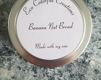 Banana Nut Bread Soy Candle 4.4oz
