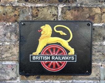 Vintage Style British Railways Cast Iron Wall Plaque