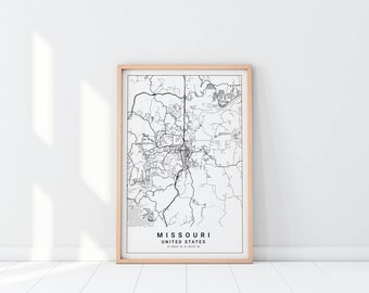 Missouri state map Etsy