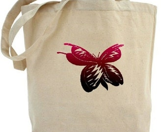 Butterfly Tote - Cotton Canvas Tote Bag