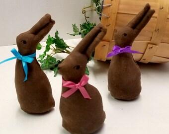 Chocolate Bunny Rabbit Decoration Set, DIY Easter Centerpiece Basket Filler, Bunny Bowl Filler Ornaments, Fake Faux Candy Food