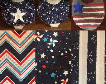 4TH OF JULY Made To Order Baby Bibs