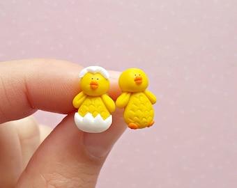 Chick Earrings -  Easter Earrings - Chicken Earrings - Mothers Day Gift Stuffers - Easter Stud Earrings - Cute Easter Gifts - Funny Earrings