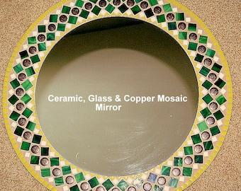 Copper Rounds Ceramic Mirror
