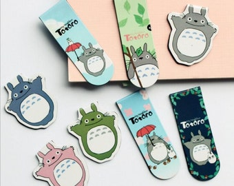 2pc My Neighbor Totoro Magnetic Bookmark Set - Book Accessories, Gifts under 5 Dollars, Stocking Stuffer, Kawaii, Ships from USA - IMP27