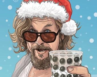 Big Lebowski Christmas card