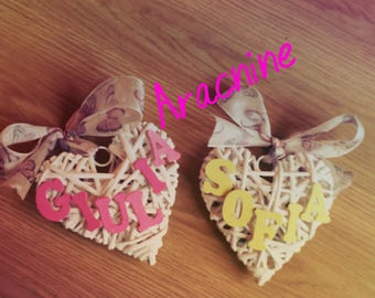 Baby bow birth, decoration for crib and child's bedroom