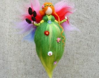 Forest Fairy, Fairy doll, Fairy ornament, Needle felted Fairy, Fairy felt, Waldorf dolls, Waldorf toys