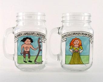 Poldark Drinking Jars