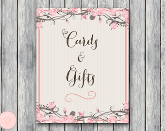 Cards and Gifts Sign, Instant Download, Printable Sign, Wedding Thank you Sign, Bridal Shower thank you, Baby Shower cards wd43 TG05 TH06
