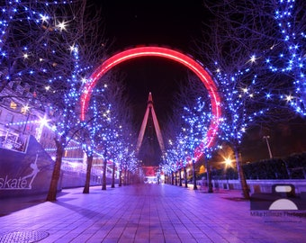 """Mounted Photographic Display Print - The London Eye #1 (A4 print in 14"""" x 11"""" Mount, Unframed)"""