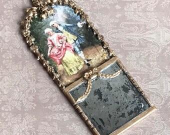 Trumeau Mirror Miniature Mirror Hand Made 1.12 Dollhouse Decor