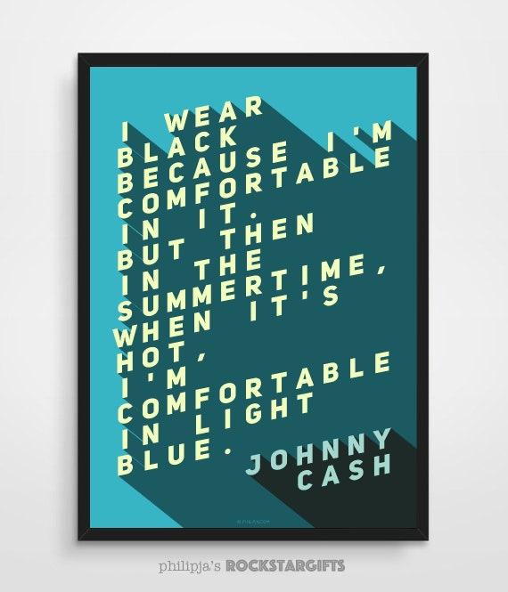 JOHNNY CASH QUOTE Johnny Cash Art Print Music Quotes Quote