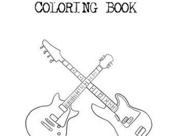 The Rock n Roll Coloring Book by Aaron Brassea
