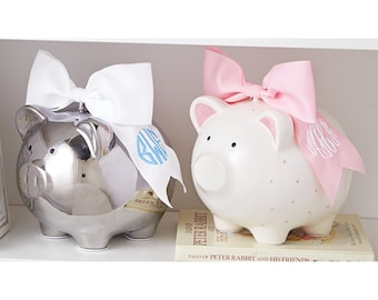 Monogrammed Piggy Bank