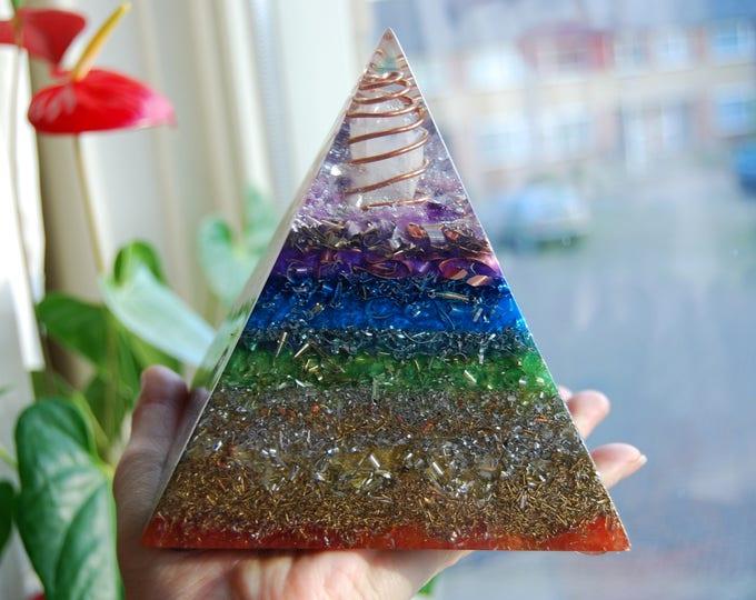 LARGE Orgone REAL Orgonite® Pyramid SBB Coil