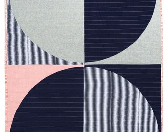 Red White + Blue Baby - Fresh modern geometric quilt - POP Variation