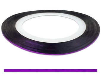 Purple 0.6 mm Nail Striping Tape - No Glue Needed! - For Nail Art, Nail Designs and Patterns, Creating Flawless Manicures and Pedicures