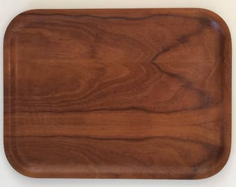 Vintage Backman Teak Tray Made in Finland in 1960's Mid Centruy Modern