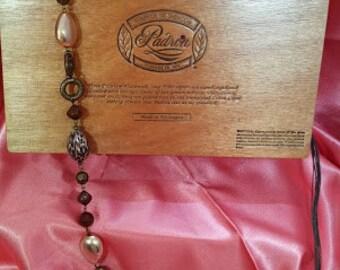 cigar box purse peach-padron