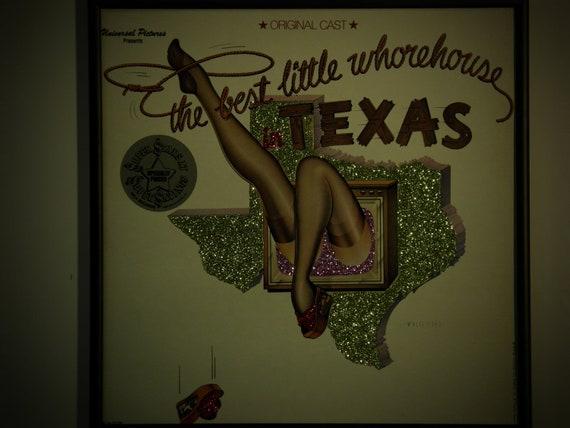 Glittered Record Album - The Best Little Whorehouse in Texas