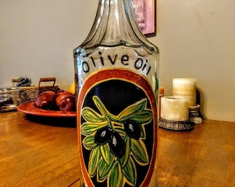 Olive oil decanter